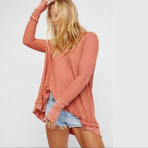 FREE PEOPLE Laguna Thermal in Cocoa Color Large